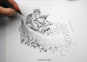 Sketch in Progress (Pencil Vs Camera - 80) by BenHeine