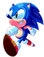 Sonic (no bg) by Zoiby