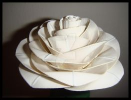 White Duct Tape Rose by DuckTapeBandit