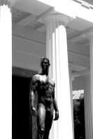 Statue Nude. Monochrome. by johnwaymont