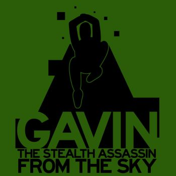 GAVIN THE STEALTH ASSASSIN FROM THE SKY by GingerJMEZ