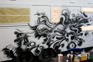airbrush on caravan. WOHNZILLA by graynd
