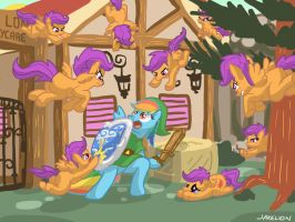 Don't Attack Scootaloo by DocWario