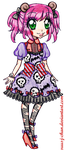 Drift Lolita Outfit Design [COMMISSION] by suusj-chan