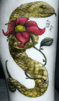 Tipicel Flower and Snake by CuteKillerDog
