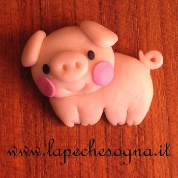 pig charm by lapechesogna