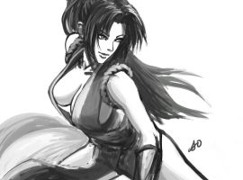 Mai Shiranui Fight Stance by borjen-art