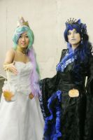 Aki Con 2012 -Luna and Celestia by Vega-Sailor-Cosplay