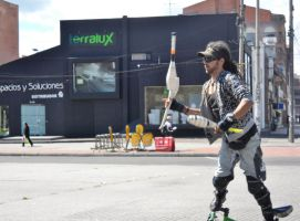 A Juggler Performing in Street by TheWizardofOzzy