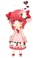 Strawberry chibi by FlurKitty
