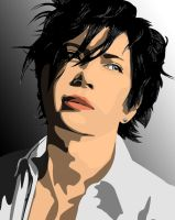 Vector Portrait of Gackt Camui by maddaluther