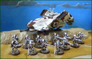 fire warriors and tank by Granamir by Granamir
