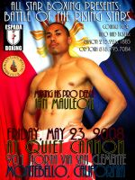 Pro Debut Boxing Poster by cyphaflip