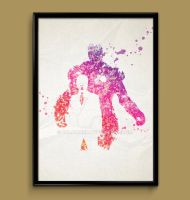 Ironman Watercolor print by ColourInk
