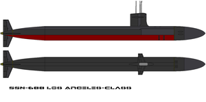 Los Angeles Class Attack Subma by bagera3005