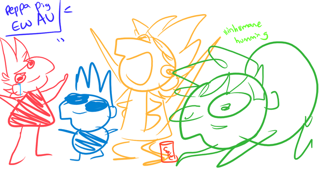 Peppa pig eddsworld au dont steal by HoshPosh