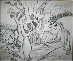 Tigger and Eeyore by WDWParksGal