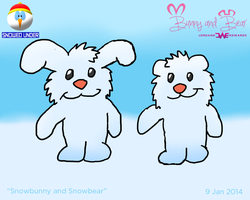 Snowbunny and Snowbear - Snowed Under by JWthaMajestic