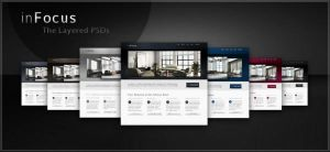 Free PSDs of our inFocus Theme by WebTreatsETC