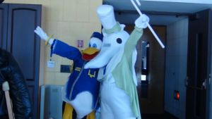 Excalibur and Donald Duck by DarkBeastGanon
