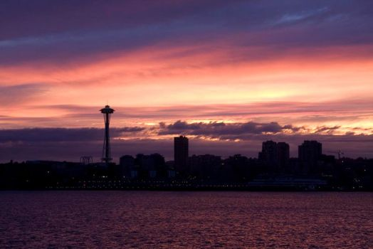 Seattle at 5am by Dustspots
