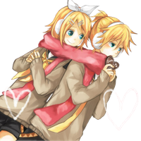rin and len render by chronoXz