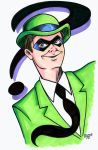 Riddler Headshot Colored by RichBernatovech