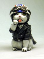 Cafe Racer Kitty painted by Switchum