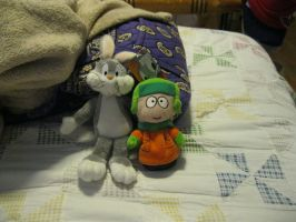 Bugs Bunny and Kyle by moulinrougegirl77