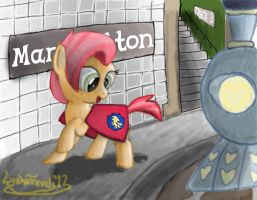 Babs returns to Manehatten by LyokoTravelsPegasus