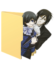 Black butler Folder Icon by Hinatka3991