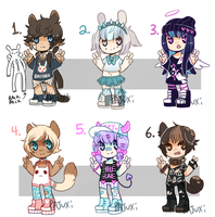 SMALL FRY ADOPTS SET 1- {CLOSED} by Kiwi-adopts