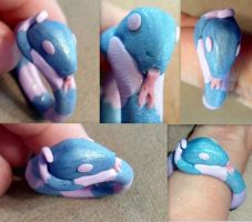 Polymer Clay Snake Ring by RaheHeul