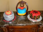 Iron Man SuperMan and SpiderMan Birthday Cake by ThePetiteShop