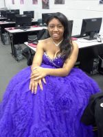 Purple Ball gown by Linked-Memories-21