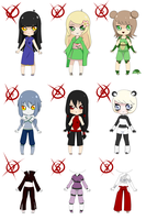 Naruto OC Adoptables 1 [CLOSED] by BubblesTea