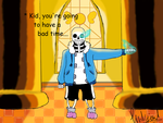 Sans in judgement hall... by Pinkjewl123