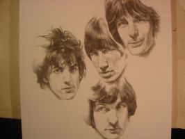sketch of pink floyd by seyk