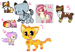 Unused character adoptables 2/7 by Soulss-Adopts