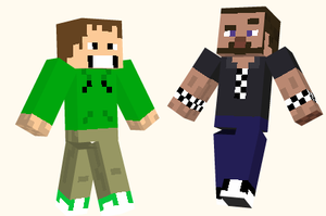 Eddsworld and Tomska mc skins by K66guns0
