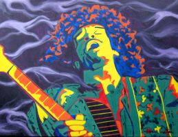 jimi hendrix by 2nd-breath