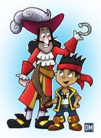 Jack and Captain Hook by DanielMead