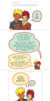 A comic of pronouns and hugs by kosmonauttihai