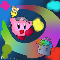 Kirby tuesdays-Paint kirby by thegamingdrawer