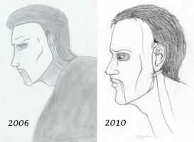 Before after Erik's profile by RipperBlackstaff