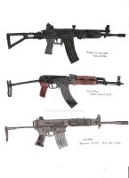 Assault Rifles 1 by stopsigndrawer81