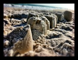 Crumbling Sand Castles by WadeCreativeSuite