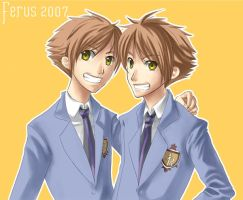 Ouran Twins by ferus