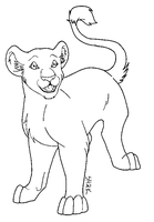 Realistic Cub Lineart MSP by sailorharmony2000