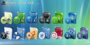 Boxes vista like   OS by TPDKCasimir Iconos para Windows XP